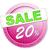 розовый · двадцать · процент · изолированный · белый · 20 - Сток-фото © magann