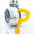 zoete · weinig · robot · vraagteken · man - stockfoto © magann