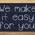 chalkboard we make it easy for you stock photo © magann