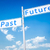pasado · futuro · dirección · signo · poste · indicador · dos - foto stock © magann
