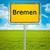 city sign of bremen stock photo © magann