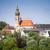 画像 · いい · 修道院 · 雲 · 木 · フィールド - ストックフォト © magann