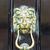 dekoratif · bronz · aslan · kafa · kapı - stok fotoğraf © magann