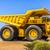buldózer · kosz · citromsárga · vmi · mellett · nagy · kő - stock fotó © magann