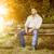 barbudo · homem · bonito · banco · imagem · cara · homem - foto stock © magann