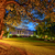 crepúsculo · paisaje · cielo · árbol · jardín - foto stock © mahout
