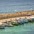 fishnet · corda · verão · porto · pescaria · peixe - foto stock © mahout