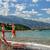 Grécia · guarda-sol · praia · sol · mar · azul - foto stock © mahout