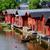 Finlandiya · eski · ahşap · kırmızı · evler - stok fotoğraf © maisicon