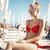 modell · bikini · napszemüveg · mosolyog · barna · hajú · nagy - stock fotó © majdansky