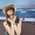 にやにや · 女性 · サングラス · 帽子 · 海 · 美しい - ストックフォト © majdansky