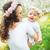 young brunette woman holding a lovely child stock photo © majdansky