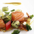 krumpli · palacsinták · füstölz · lazac · közelkép · hal · zöld - stock fotó © Makse