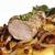 disznóhús · lédús · sült · krumpli · étel · levél - stock fotó © Makse