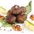 felszolgált · krumpli · marinált · gombák · étel · háttér - stock fotó © Makse