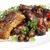 sült · disznóhús · közelkép · gombák · vacsora · piros - stock fotó © Makse