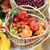 Wicker basket filled with fresh fruit and vegetables stock photo © Makse