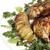 サラダ · 魚 · フルーツ · 乳がん · プレート · 肉 - ストックフォト © makse