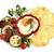tükörtojás · felszolgált · zöldségek · sonka · zöld · reggeli - stock fotó © Makse