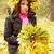 vrouw · krans · mooie · vrouw · bladeren · liefde · vrouwen - stockfoto © mallivan