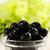 azeitonas · pretas · tigela · transparente · alface · comida · vidro - foto stock © mallivan