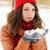 śniegu · ręce · młoda · kobieta - zdjęcia stock © mallivan