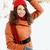 woman holding a snowball stock photo © mallivan