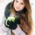 jonge · vrouw · beker · warme · drank · vrouw · gelukkig - stockfoto © mallivan