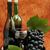natureza · morta · garrafa · de · vinho · copo · de · vinho · uvas · vinho · vidro - foto stock © mallivan