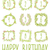 happy birthday card invitation with set stock photo © mamziolzi