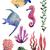 korall · textúra · Vörös-tenger · víz · hal · kék - stock fotó © mamziolzi