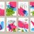tarjeta · de · felicitación · establecer · cute · mar · objetos · colección - foto stock © mamziolzi