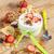 yogurt · cereali · muesli · fresche · fragole · banana - foto d'archivio © manaemedia