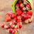赤 · バケット · 木製 · 白 · 葉 · 背景 - ストックフォト © manaemedia