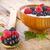 framboesa · colher · iogurte · topo · outro - foto stock © manaemedia