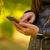 czarny · business · woman · wzywając · smartphone · patrząc - zdjęcia stock © manaemedia