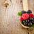 tálak · reggeli · gabonafélék · gyümölcsök · kanál · fa · asztal - stock fotó © manaemedia