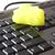 limpeza · especial · esponja · amarelo · teclado · tecnologia - foto stock © manaemedia