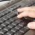 imprensa · teclado · mão · trabalhar - foto stock © manaemedia