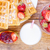 homemade waffles with strawberries maple syrup stock photo © manaemedia