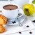 breakfast coffee pastries and fruits stock photo © manera