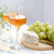 two glasses of wine grapes and blue cheese stock photo © manera