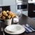otthon · asztal · egyszerű · virágok · szemüveg · evőeszköz - stock fotó © manera