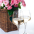 dos · gafas · vino · blanco · rosas · ramo · rosa - foto stock © manera