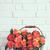 buket · güller · sepet · raf · beyaz · tuğla · duvar - stok fotoğraf © manera