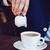 krem · kahve · işadamı · mavi · ceket · kafe - stok fotoğraf © manera