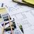 интерьер · рабочих · таблице · архитектурный · плана · дома - Сток-фото © manera