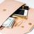 bézs · kuplung · kézitáska · kozmetika · ékszerek · pénz - stock fotó © manera