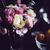 bloemen · tabel · boeket · roze · ingesteld · diner - stockfoto © manera