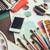 okostelefon · asztal · művész · stúdió · vízfesték · paletta - stock fotó © manera